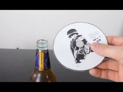 How To Open a Beer Bottle With a CD