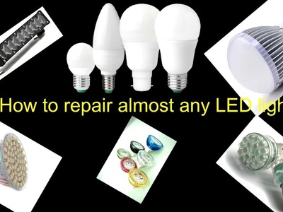 How to repair. fix broken led light [bulb]