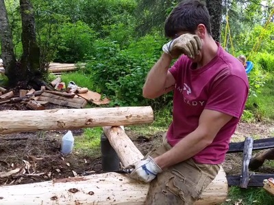 Little cabin rebuild: foundation and sill logs