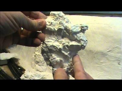 Making rocks and installing on Railroad  layout.wmv