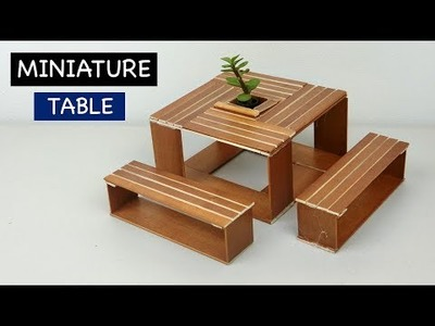 Miniature Wooden Table & Chair | Easy Creative Craft ideas