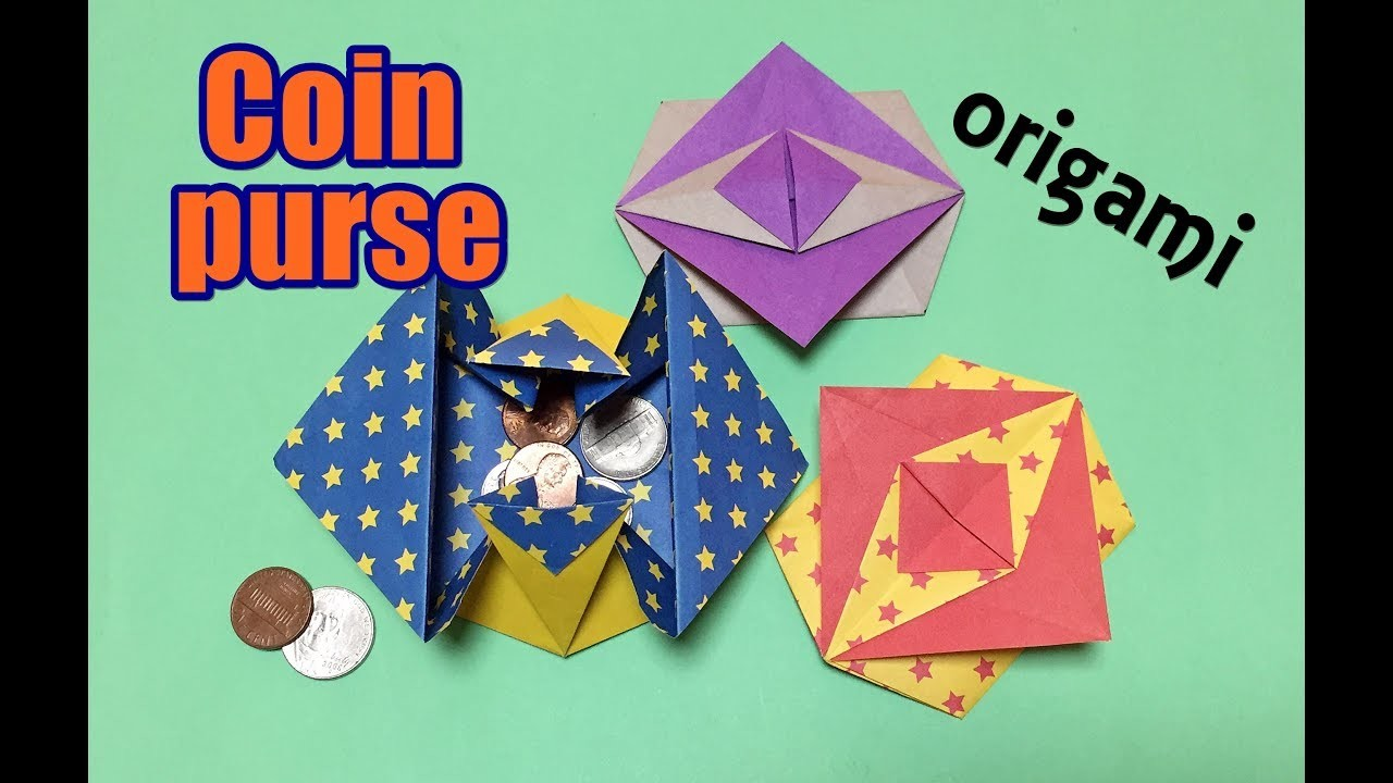 Origami coin purse easy for beginners but cool how to for Useful things to make out of paper