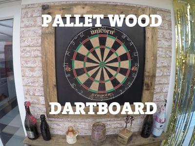 Pallet Wood Dartboard