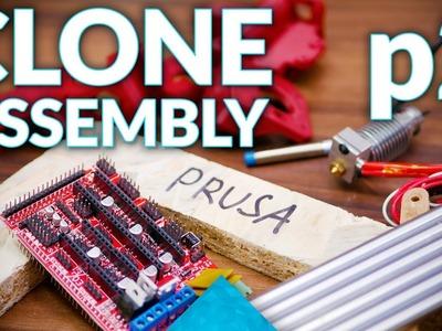 Prusa i3 MK2 3D printer clone live assembly: p2, X & Z Motion