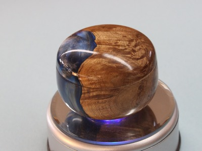 Resin and Maple Burl Lidded Box      by Sam Angelo