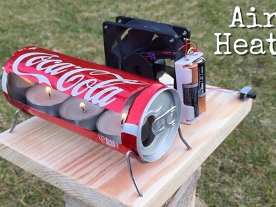 Simple idea - How to Make an Air Heater Using Candles - Easy to Build