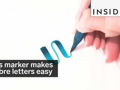 This marker makes ombre lettering a breeze
