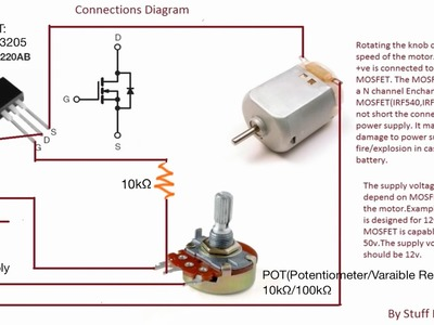 (Update 3)How to build the simplest DC Motor Speed Controller (Using MOSFET and Potentiometer)