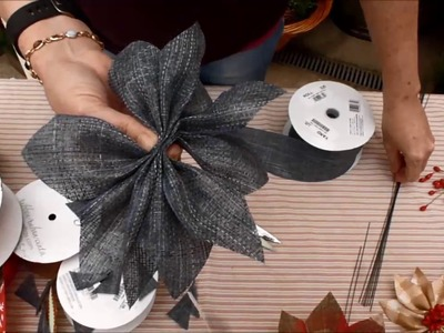 Willey Farms - Make a Poinsettia bloom using ribbon
