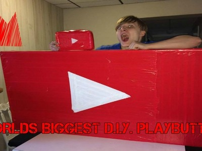 WORLDS BIGGEST D.I.Y. YOUTUBE PLAY BUTTON!!! WORLD RECORD!!!