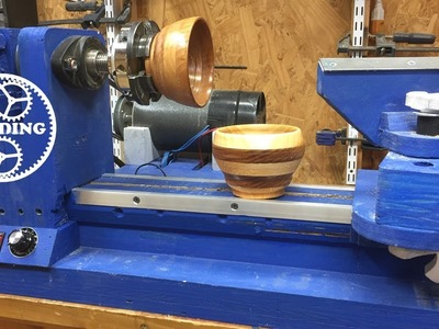 015. Wood Makes Wood, My First Bowl On My Shop Lathe.