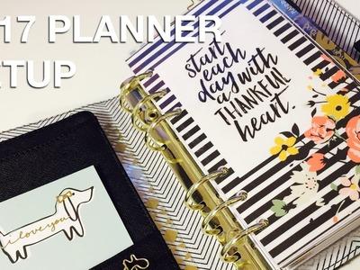 2017 Personal Planner Setup – Kikki k Medium Black Leather Planner