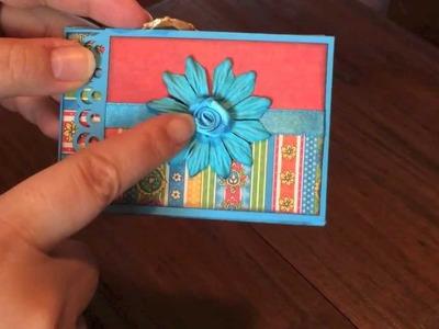 A lovely gatefold pocket card - with some scrap mats