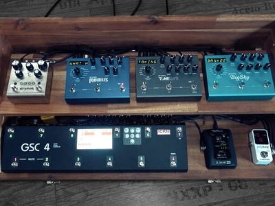 Building a two level pedal board for a Stereo Setup