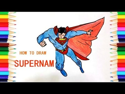 Coloring Pages Superman   How To Draw Superman   Drawing Pages   Learn Colors