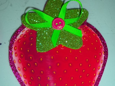 Como hacer Invitacion Fresita - how to make a birthday card Strawberry Shortcake DIY