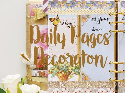 Daily Pages Decoration | June 2016 | Decorate with Me | Kikki.K Planner