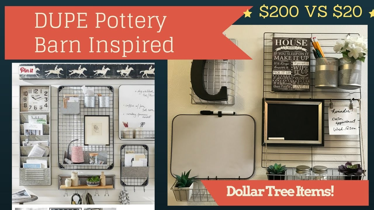 DIY Dollar Tree Wall Organizer Dupe | PotteryBarn Inspired | Collab With Couponing4ever