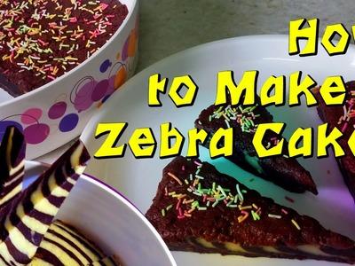 DIY : How to Make a Zebra Cake | Eggless Cake Recipe