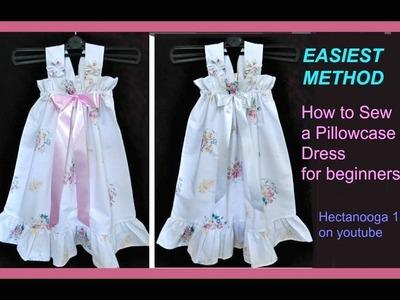 EASIEST PILLOW CASE DRESS, sewing for beginners, flower girl dress, sundress, christening dress