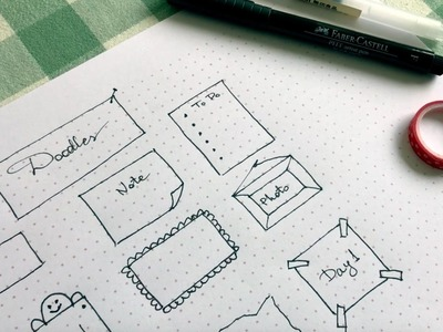 Easy and simple bullet journal ideas - banners, arrows, dividers and doodles