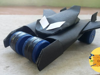 EASY!!! How to Make Batmobile from Paper and BottleCaps