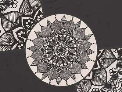 Episode 2: A Black And White Mandala | Fancy Doodling