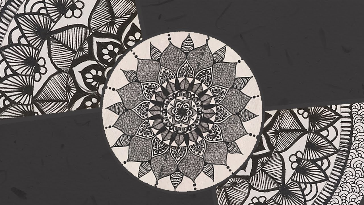 Episode 2: A Black And White Mandala | Fancy Doodling