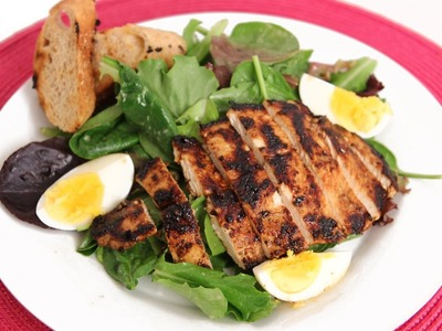 Grilled Chicken Caesar Salad Recipe - Laura Vitale - Laura in the Kitchen Episode 577