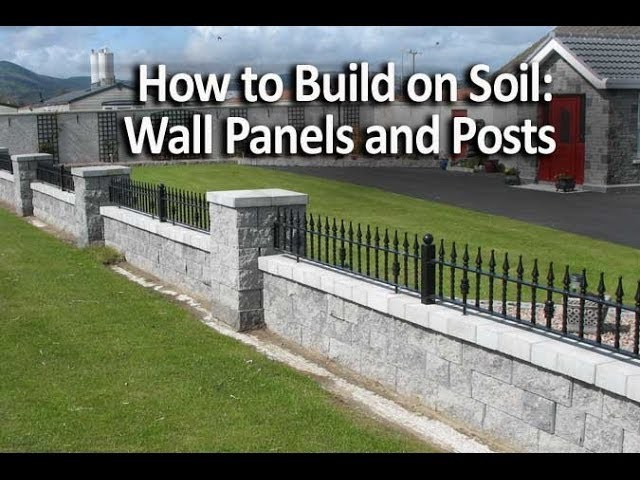 How to Build Seating Walls and Posts on Soil