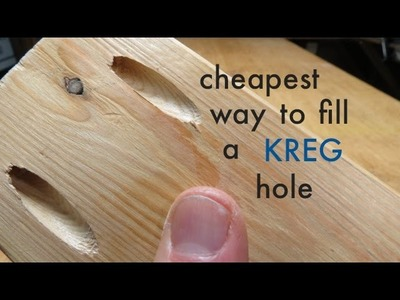 How to ● Cheapest way to fill a KREG pocket hole