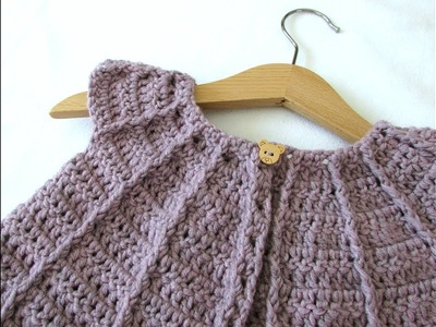 How to crochet a little girl's cable cardigan. sweater
