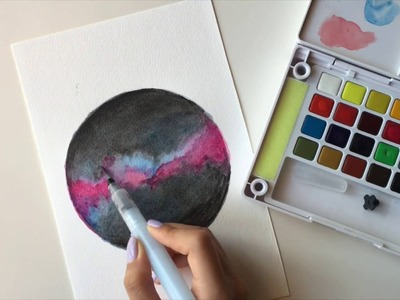 How To Draw a Galaxy with koi watercolor