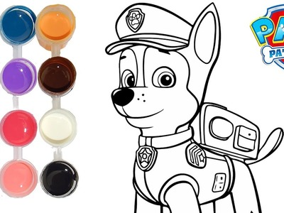 How to Draw & Color a Paw Patrol Chase | Drawing on & New Learning 4 Kids | Toddlers Learn Colors