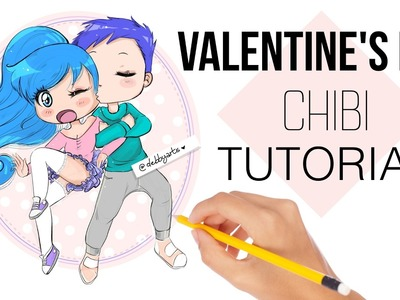 ????????HOW TO DRAW - VALENTINE'S DAY CHIBI COUPLE