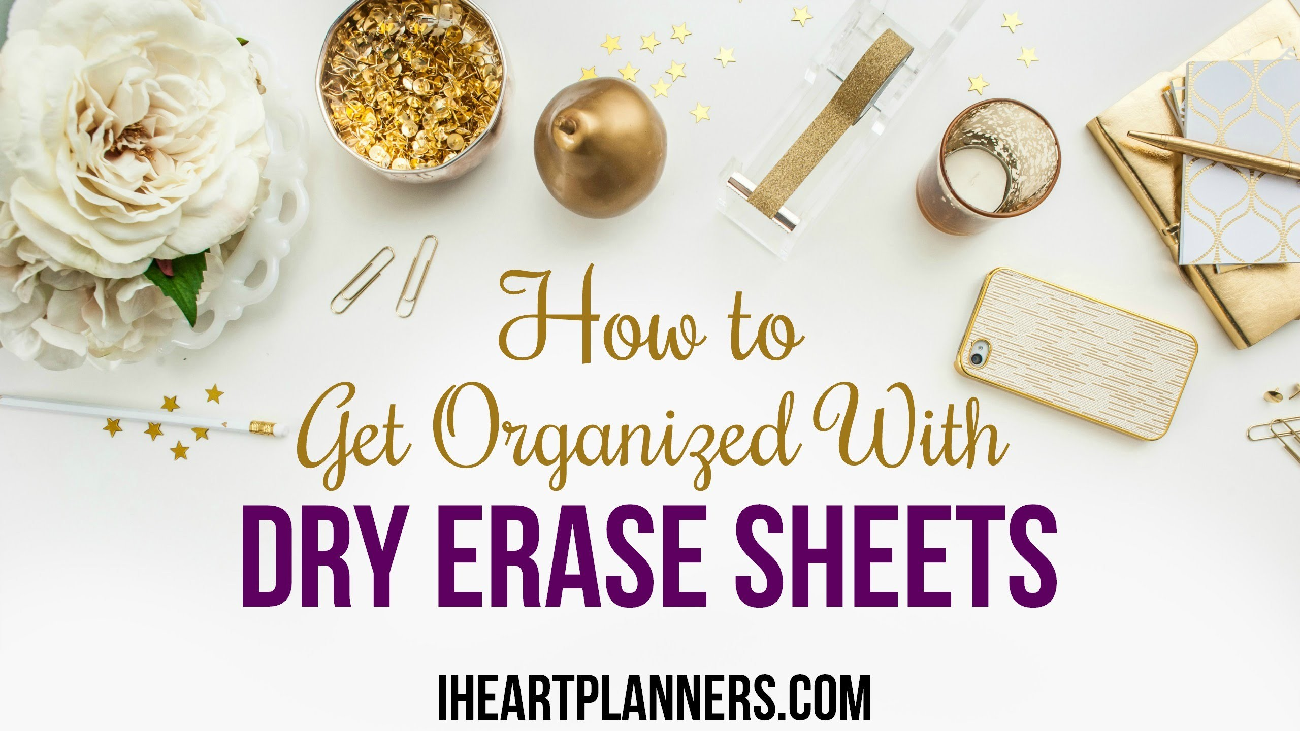 How to Get Organized with Dry Erase Menu Planner and Freezer Inventory