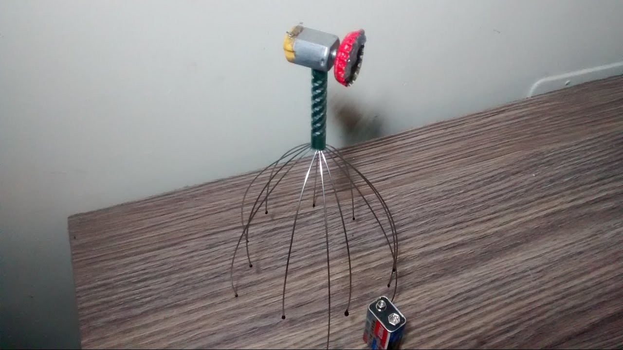 HOW TO MAKE A ELECTRONIC HEAD MASSAGER