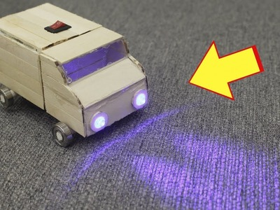 How to Make a Mini Truck Toy with Popsicle Sticks, Motor and Bearings (Fidget Spinner) - DIY Craft