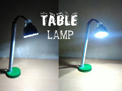How to make table lamp at home - easy way - sdik rof