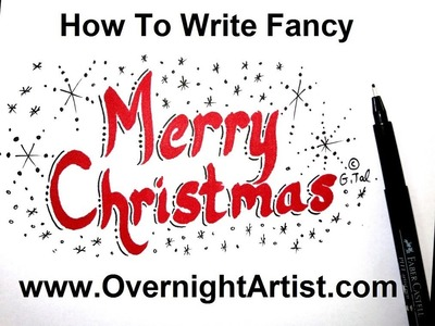 How To Write Merry Christmas - Calligraphy Style