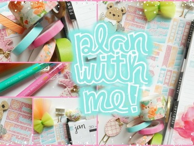 """Last Saturday of the month"" Plan with Me! Jan. 30 - Feb. 5 in my Erin Condren Life Planner 