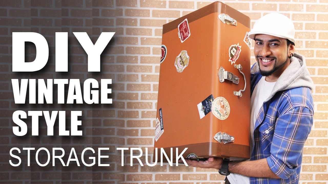 Mad Stuff With Rob - How To Make A Vintage Style Storage Trunk   DIY Craft
