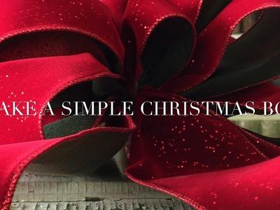 Make a Simple Christmas Bow