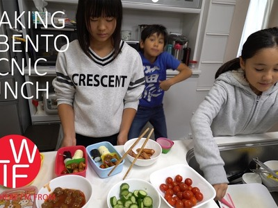 Making a Bento Picnic Lunch in Japan