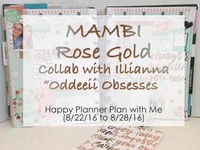 MAMBI Rose Gold Theme Happy Planner Plan with Me (8.22.16 to 8.28.16)