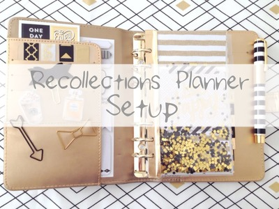 Michael's Recollections Planner - Gold