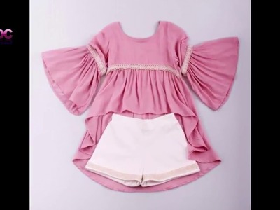 New Stylish and Beautiful baby ruffle dress designs For baby Girls| Lace Baby dress designs 2017