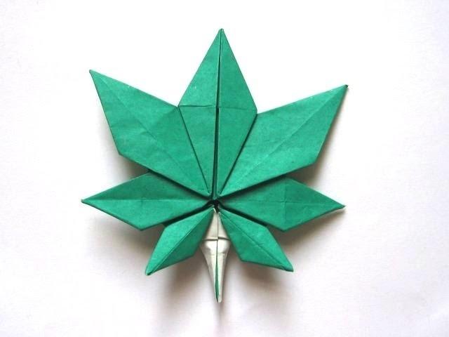 """Origami Maple Leaf by """"Jassu"""" Kyu-seok Oh (Part 4 of 5)"""