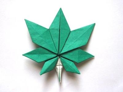 """Origami Maple Leaf by """"Jassu"""" Kyu-seok Oh (Part 5 of 5)"""