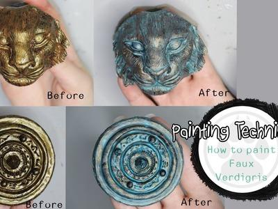 Painting Techniques - How to Paint Faux Verdigris